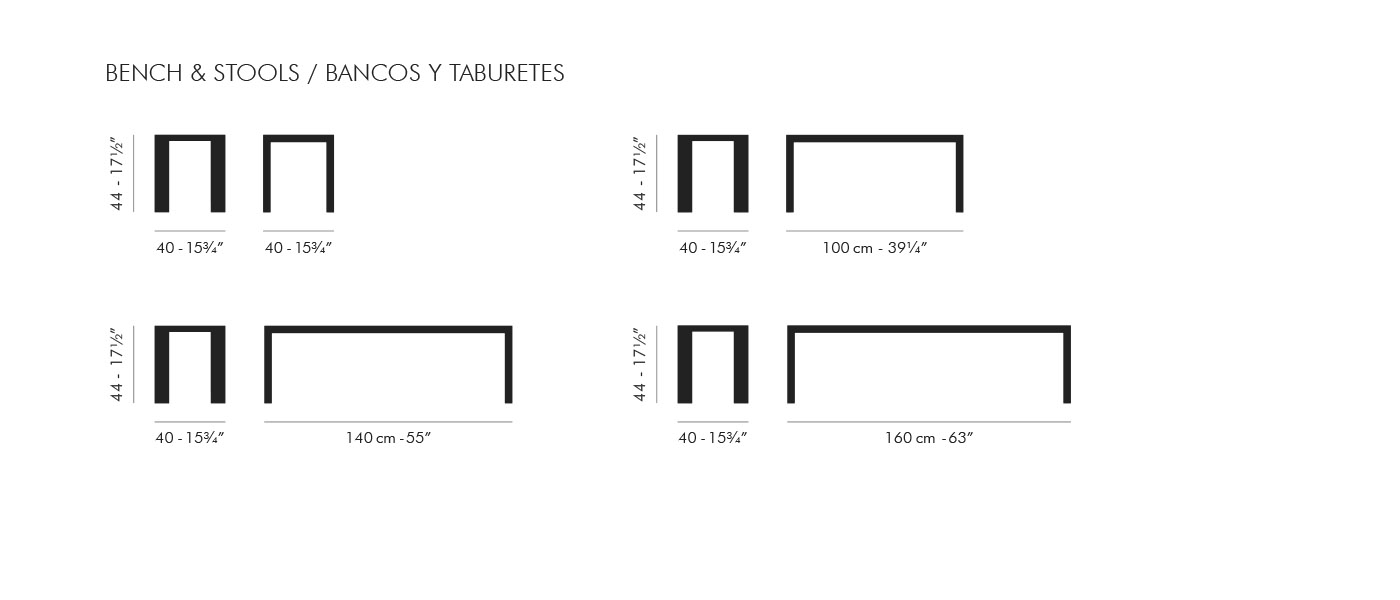 Bedroom bench dimensions - Stua Dimensions Deneb Bench